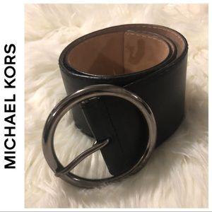 """MK 3"""" Wide Genuine Leather Waist Belt"""